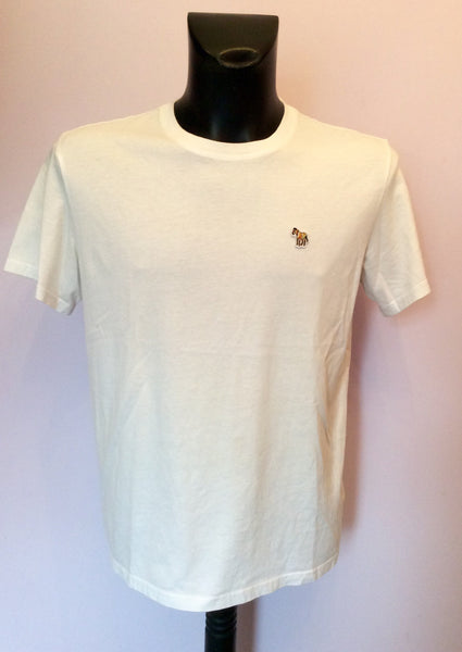 Paul Smith White Cotton Short Sleeve T Shirt Size L - Whispers Dress Agency - Sold - 1