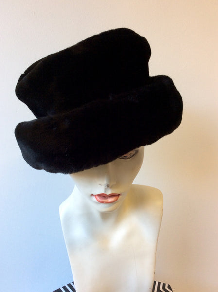 ACCESSORIZE BLACK FAUX FUR HAT - Whispers Dress Agency - Womens Formal Hats & Fascinators - 1