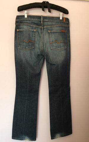 7 For All Mankind Blue Bootcut Jeans Size 32W, 32L - Whispers Dress Agency - Womens Jeans - 2