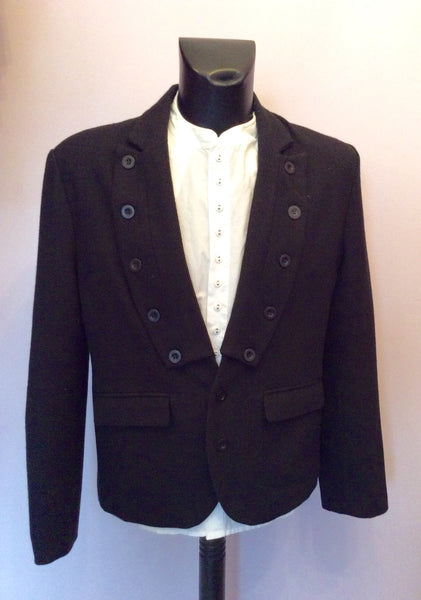 DESIGNER PEOPLES MARKET BLACK BUTTON TRIM JACKET SIZE L - Whispers Dress Agency - Mens Suits & Tailoring - 1
