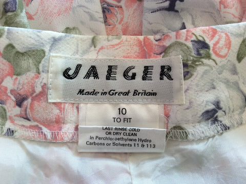 Vintage Jaeger Pale Pink, Blue & Green Floral Print Blouse & Skirt Size 10 - Whispers Dress Agency - Womens Vintage - 5