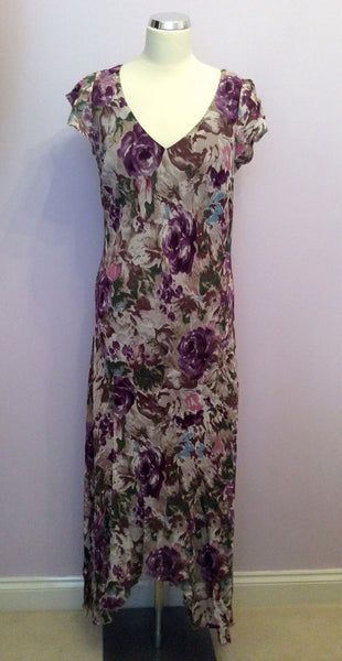 Per Una Floral Print Long Dress Size 16 Reg - Whispers Dress Agency - Womens Dresses - 1