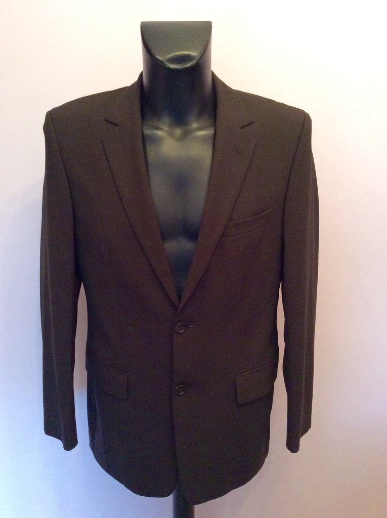 38467a97f Hugo Boss Dark Brown Wool Suit Jacket Size 38R - Whispers Dress Agency -  Mens Suits