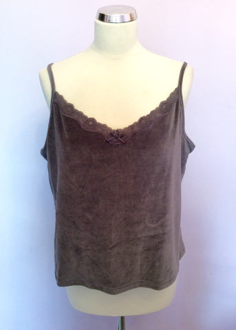 Brand New Active Wear Steel Grey Velour Camisole & Hooded Top Size 22 - Whispers Dress Agency - Womens Activewear - 3