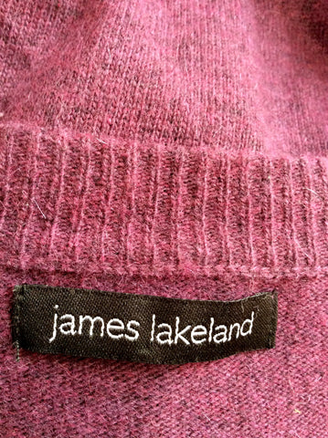James Lakeland Plum Wool Blend Cardigan Size 18 - Whispers Dress Agency - Womens Knitwear - 3