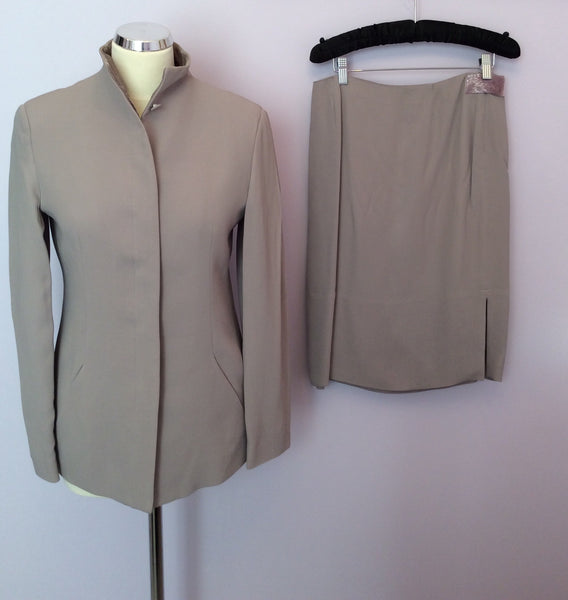 Emporio Armani Mauve Skirt Suit Size 38/42 Approx Fit UK 10 - Whispers Dress Agency - Sold - 1