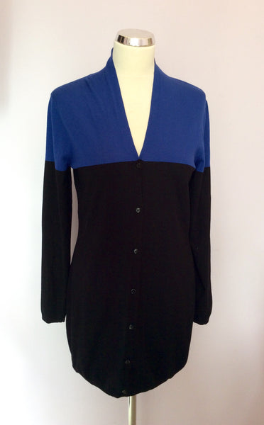 Betty Barclay Black & Blue V Neck Cardigan Size 12 - Whispers Dress Agency - Sold - 1