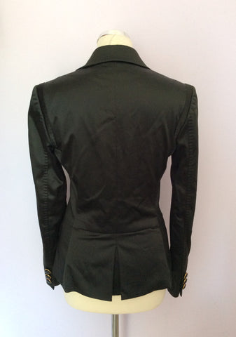 DOLCE & GABBANA BLACK MATT SATIN JACKET SIZE 42 UK 10 - Whispers Dress Agency - Sold - 3