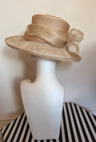Brand New Straw Bow Trim Formal Hat - Whispers Dress Agency - Womens Formal Hats & Fascinators - 3