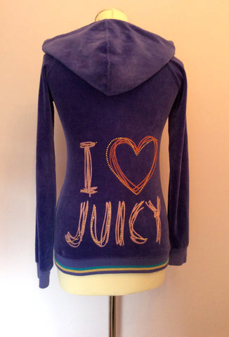 Juicy Couture Purple Velour Hooded Top Size 14 - Whispers Dress Agency - Womens Activewear - 2