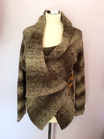 Marlene B Brown Wrap Around Cardigan One Size - Whispers Dress Agency - Womens Knitwear - 1