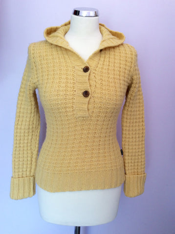 Girls Abercrombie & Fitch Yellow Hooded Jumper Size L - Whispers Dress Agency - Girls Knitwear - 1