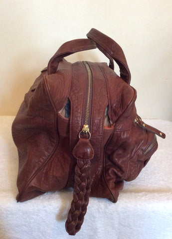 ... 5 Bulga De Beer Brown Leather Tote Bag - Whispers Dress Agency -  Handbags - 6 ... 75c068283adfe