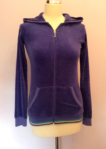 Juicy Couture Purple Velour Hooded Top Size 14 - Whispers Dress Agency - Womens Activewear - 1