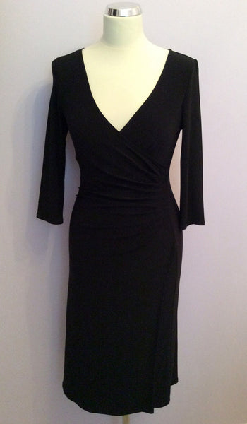 Brand New Laura Ashley Black Wrap Dress Size 8 - Whispers Dress Agency - Sold - 1