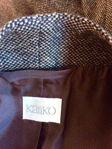 KALIKO BROWN MARL WOOL BLEND JACKET SIZE 18 - Whispers Dress Agency - Women suits & Tailoring - 3