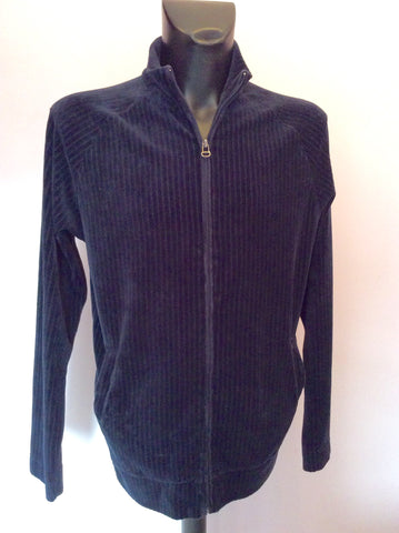Hugo Boss Dark Blue Velour Zip Neck Top Size XL - Whispers Dress Agency - Mens Casual Shirts & Tops - 1