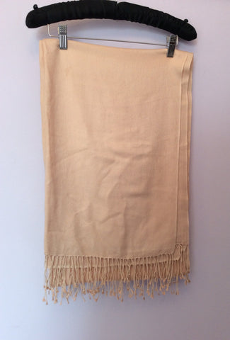 Brand New Soft Peach Pashmina Wrap - Whispers Dress Agency - Womens Scarves & Wraps