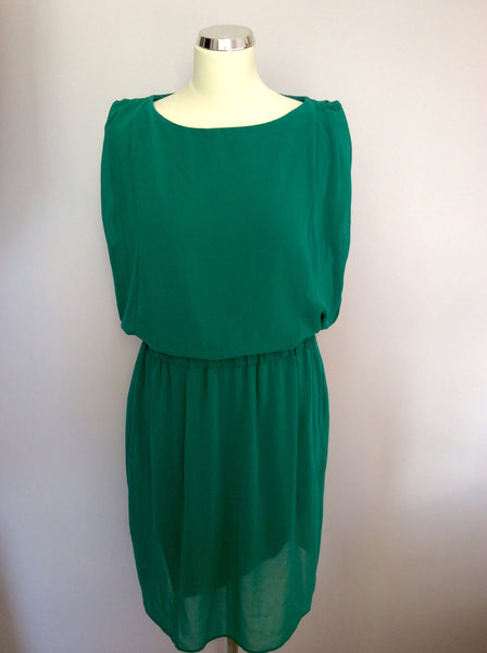 Laura Ashley Emerald Green Dress Size 14 - Whispers Dress Agency - Sold - 1