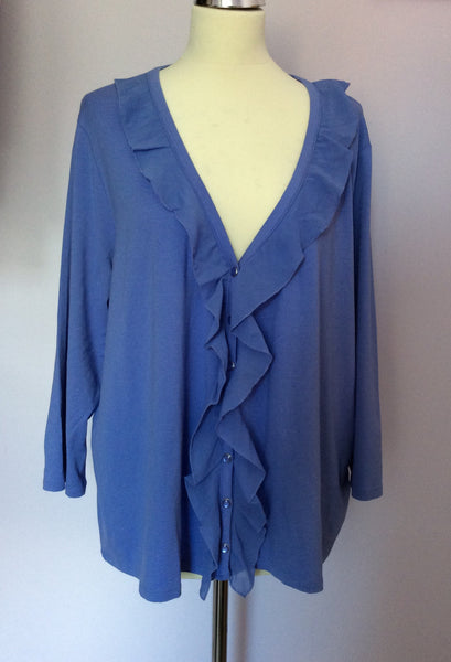 Elvi Lavender Frill Trim Cardigan/Top Size 3 UK XL - Whispers Dress Agency - Sold - 1
