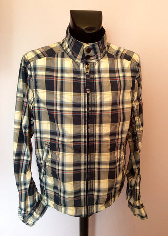 Abercrombie & Fitch Blue Check Hamilton Jacket Size XL - Whispers Dress Agency - Mens Coats & Jackets - 1