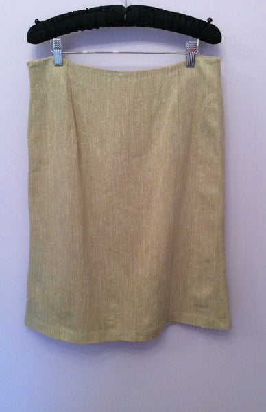 Burberry Natural / Beige Straight Skirt Size 44 UK 12 - Whispers Dress Agency - Sold - 1