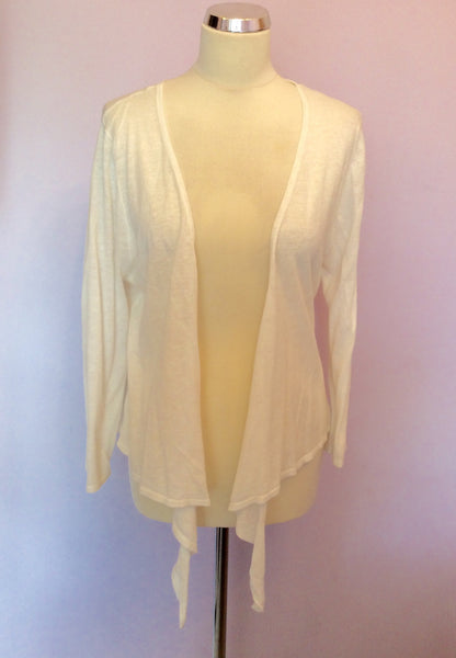 Brand New Lakeland White Cotton & Linen Cardigan Size 18 - Whispers Dress Agency - Sold - 1