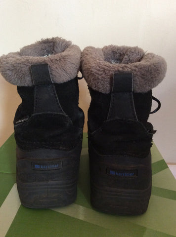 Karrimor Junior Black/Blue Suede Snow/Walking Boots Size 11 - Whispers Dress Agency - Boys Footwear - 4
