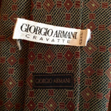 Giorgio Armani Dark Grey & Burgundy Print Silk Tie - Whispers Dress Agency - Sold - 2