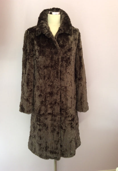 Furnatics Collection Dark Grey Faux Fur Coat Size 10 - Whispers Dress Agency - Sold - 1