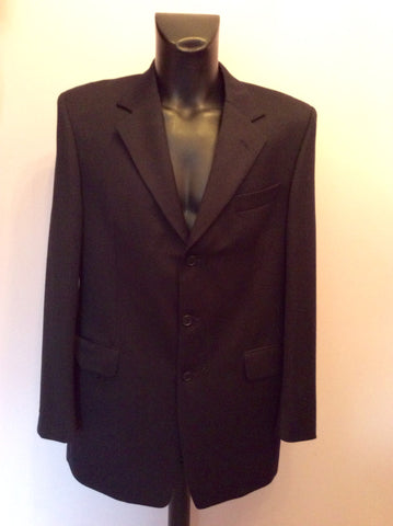 Yves Saint Laurent Black Wool Suit Jacket Size 42L - Whispers Dress Agency - Mens Suits & Tailoring - 1
