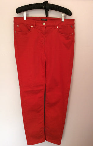 Hauber Red Stretch Slim Leg Jeans Size 14 - Whispers Dress Agency - Womens Jeans - 1