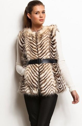 Armani Exchange Faux Fur Gilet Size L - Whispers Dress Agency - Womens Gilets & Body Warmers - 1