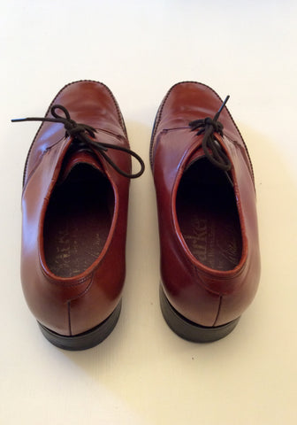 Smart Barker Brown Leather Lace Up Shoes Size 6.5E / 39.5 - Whispers Dress Agency - Mens Formal Shoes - 4