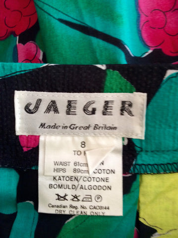 Vintage Jaeger Multi Coloured Cotton Print Top & Skirt Size 8 - Whispers Dress Agency - Womens Vintage - 5