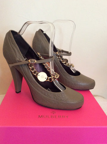 Mulberry Khaki / Olive Carter Character Leather Heels Size 7/40 - Whispers Dress Agency - Womens Heels - 2