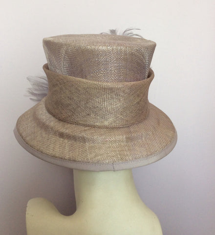 Alicia Boom Pale Lilac / Mauve Feather Trim Formal Hat - Whispers Dress Agency - Womens Formal Hats & Fascinators - 4