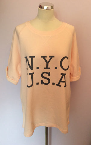 BRAND NEW LONG TALL SALLY PALE PEACH NYC SWEATSHIRT TOP SIZE L - Whispers Dress Agency - Womens Activewear - 1