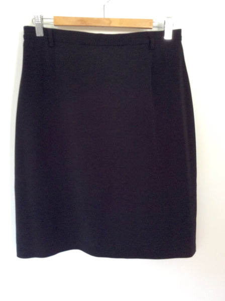 BETTY BARCLAY BLACK PENCIL SKIRT SIZE 16 FIT 12/14 - Whispers Dress Agency - Womens Skirts - 1
