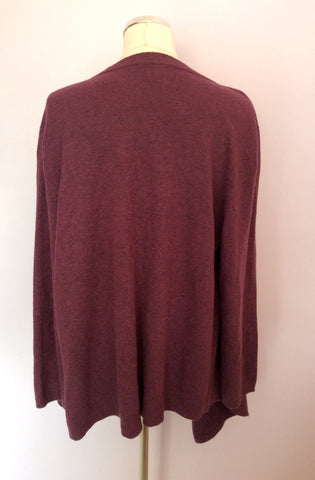 James Lakeland Plum Wool Blend Cardigan Size 18 - Whispers Dress Agency - Womens Knitwear - 2