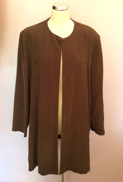 Ann Harvey Brown Long Jacket Size 24 - Whispers Dress Agency - Sold - 1