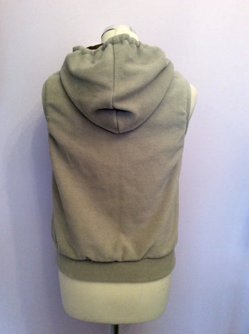 Reversible Diesel Khaki & Beige Zip Up Gilet Size S - Whispers Dress Agency - Womens Gilets & Body Warmers - 4