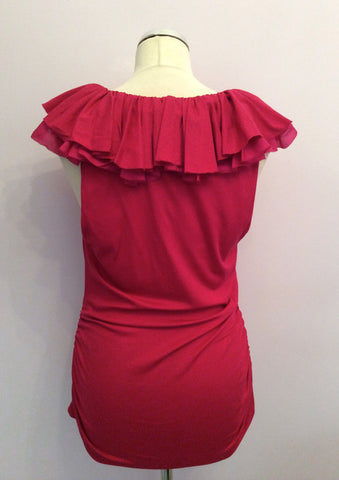 BRAND NEW RALPH LAUREN ARUBA PINK VERONICA RUFFLE TOP SIZE XL - Whispers Dress Agency - Womens Tops - 4