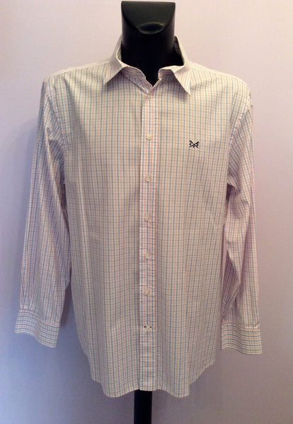 Crew Clothing Pink & Blue Check Cotton Long Sleeve Shirt Size XL - Whispers Dress Agency - Sold - 1