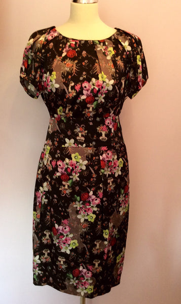 Brand New Marccain Floral Print Silk Dress Size N5 UK 14/16 - Whispers Dress Agency - Womens Dresses - 1