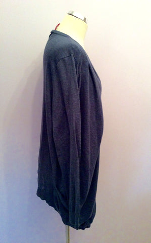 Vero Moda Dizzy Blue Long V Neck Cardigan Size L - Whispers Dress Agency - Womens Knitwear - 2