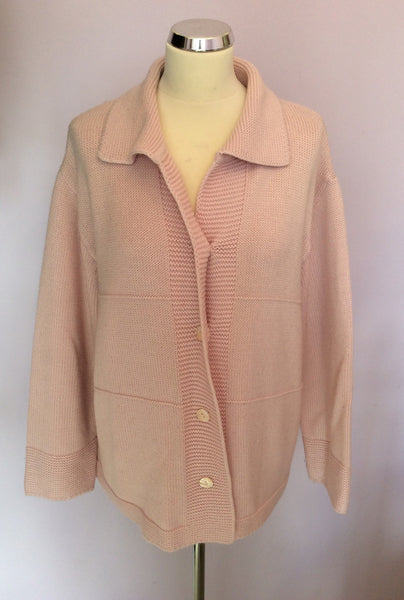 Olsen Pale Pink Cardigan Size 20 - Whispers Dress Agency - Sold - 1