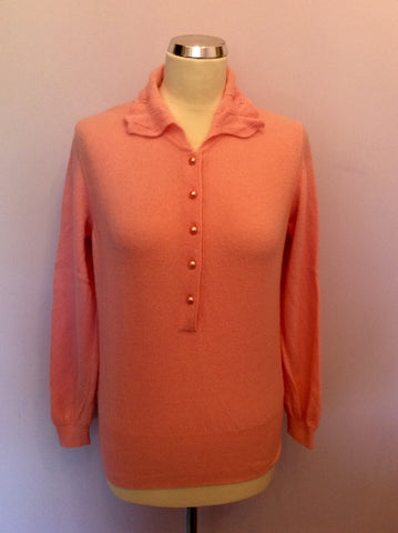 Vintage United Colours Of Benetton Pink Wool & Angora Jumper Size M - Whispers Dress Agency - Womens Vintage - 1