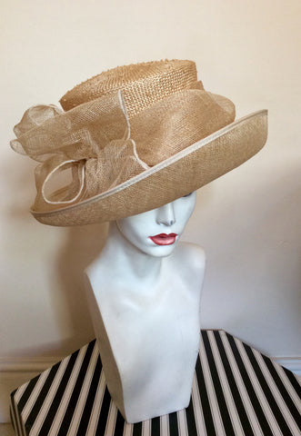 Brand New Straw Bow Trim Formal Hat - Whispers Dress Agency - Womens Formal Hats & Fascinators - 1