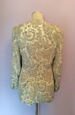 Alexon Beige & Ivory Print Occasion Jacket Size 10 - Whispers Dress Agency - Womens Suits & Tailoring - 3